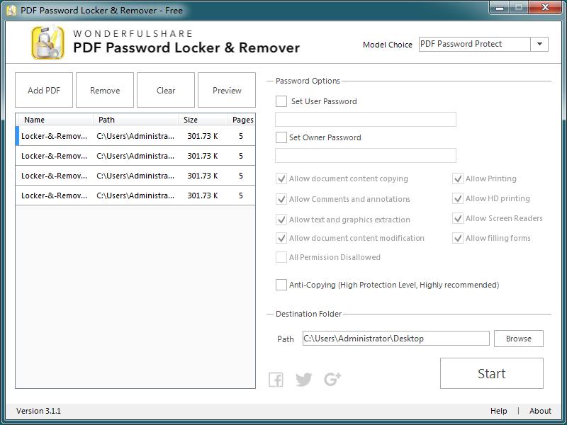 PDF加密解密器官方版截图1