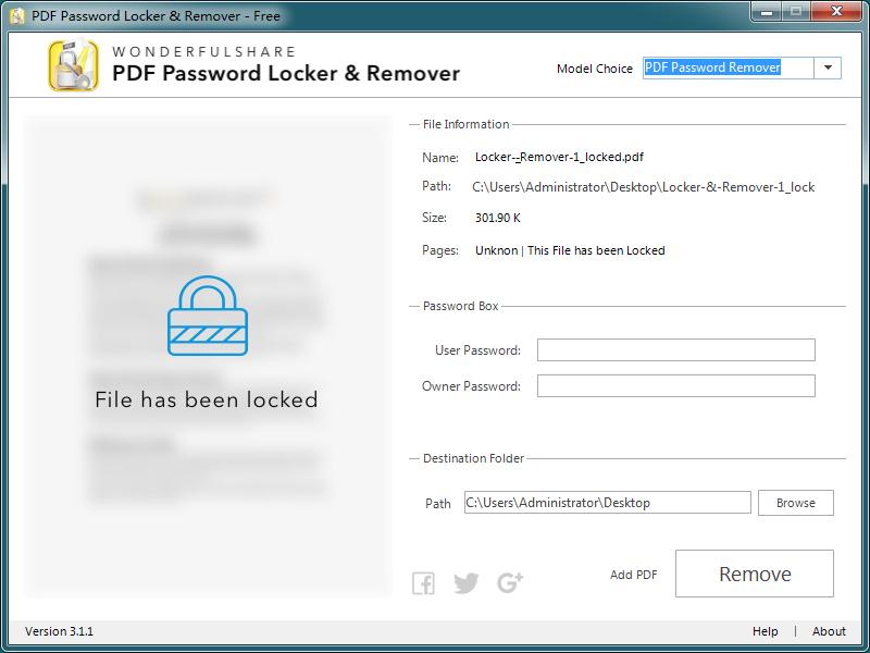 PDF加密解密器官方版截图2