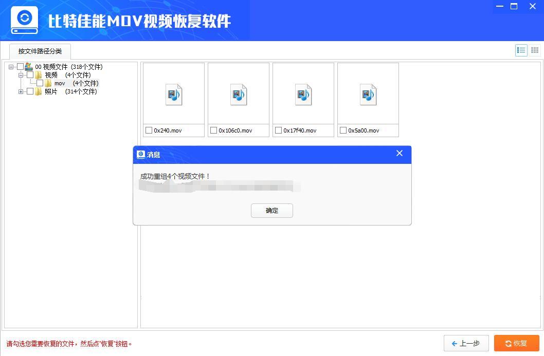比特佳能MOV视频数据恢复软件截图1