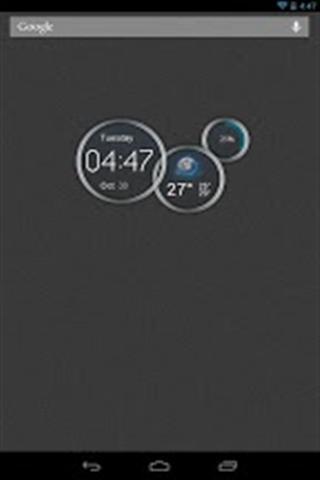 蓝色时钟截图4