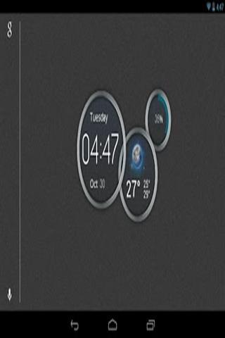 蓝色时钟截图3
