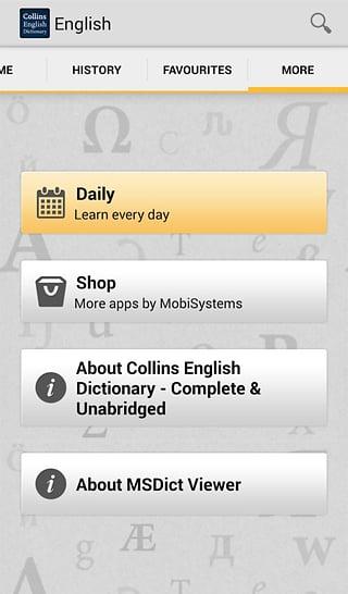 柯林斯英语词典TR截图6