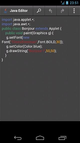 Java编辑器截图2
