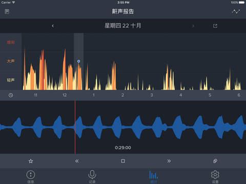 鼾声分析器iPad版截图6