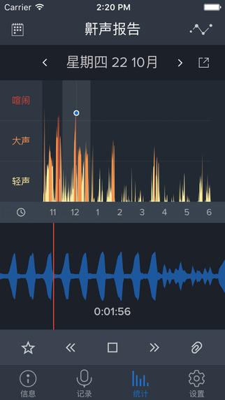 鼾声分析器iPad版截图1