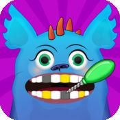 我的小怪物牙医 - 免费LOGO