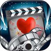 情人节视频制作 - 幻灯片与音乐使用超可爱的框架装饰您的视频