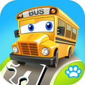 宝宝拼图:交通工具 - 熊大叔儿童教育游戏LOGO