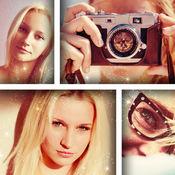 照片编辑器 拼贴艺术 造者 同 网格布局 和 相机过滤器