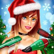 头发游戏 圣诞游戏: 美发沙龙 女孩游戏