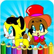 涂色书学龄前幼儿 - 儿童绘画绘画kitty猫游戏