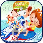 有趣的孩子卡通拼图游戏免费脑游戏
