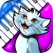 猫钢琴玩具和小猫键盘声调