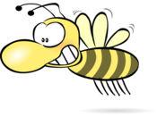 有趣的恼羞成怒蜜蜂