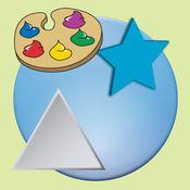有趣的形状学习绘画和着色早期教育游戏LOGO