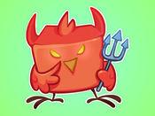 愤怒的小麻雀和快乐的小鸟 贴纸LOGO