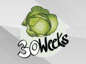 孕期每周水果贴纸