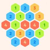 数字六边形! 合成消除游戏LOGO