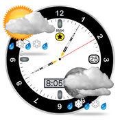 这是一个更好的时钟 - 天气预报和月相日历