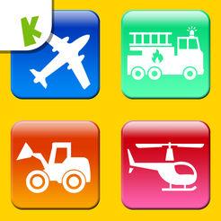 宝宝交通工具拼图游戏:巴士汽车LOGO