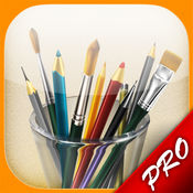 我的画笔专业版MyBrushes Pro – 无限大画布,支持中国画,油画,水彩画,素描和书法艺术