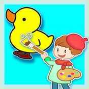 儿童幼儿绘画和涂色 - 启蒙版