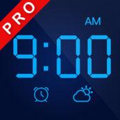 LED时钟 专业版 — 极简数字全屏显示,带天气的桌面声控闹钟