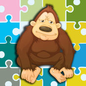 大猩猩游戏 - 大猩猩和朋友的拼图