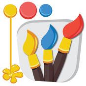 绘图书免费 - 绘图,素描,铅笔,画笔和调色板,用手指