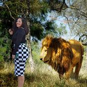 动物集锦照片剪切和粘贴照片