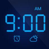 LED时钟 — 极简数字全屏显示,带天气的桌面声控闹钟