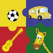 教育拼图游戏-儿童英语学习活动