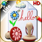 速写本为彩色绘图和书写为iPad贴纸上创建各种不同的背景