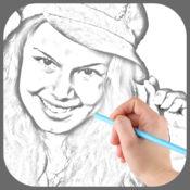 照片草图加上 - 铅笔图草图
