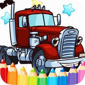 汽车消防车免费打印着色页为孩子 2