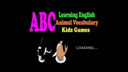 学习英语ABC动物词汇儿童游戏截图1