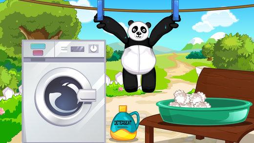 熊猫布娃娃-修理打扮洋娃娃截图1
