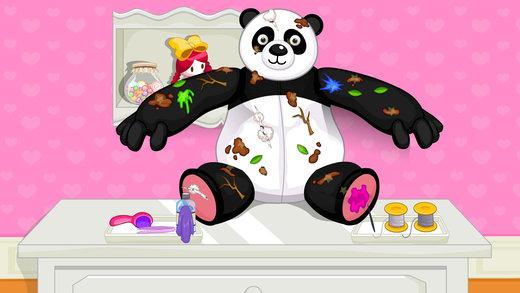 熊猫布娃娃-修理打扮洋娃娃截图4