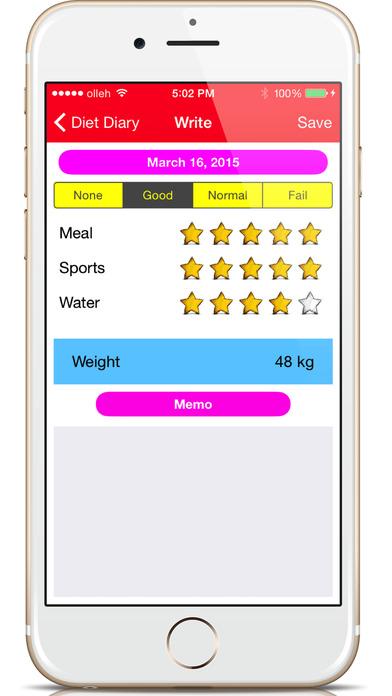 饮食日记 - 健康截图2