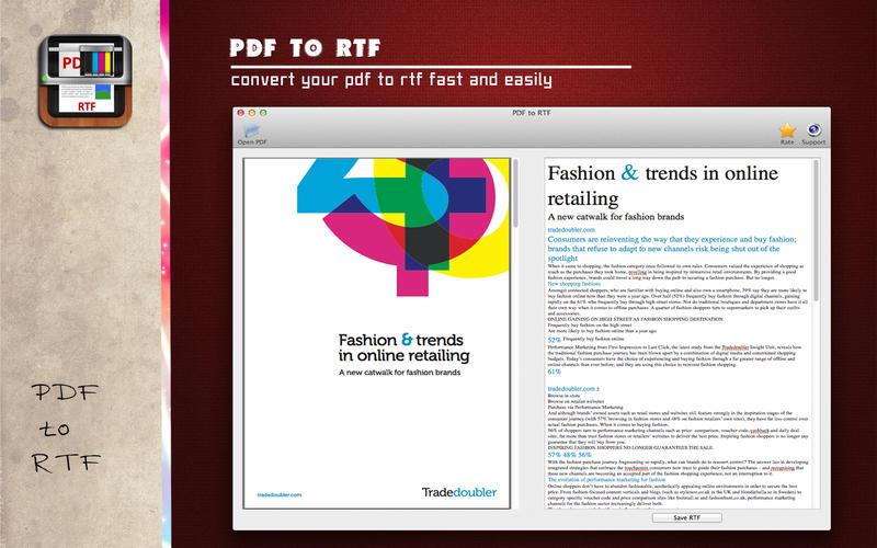 PDF转RTF转换器-PDF to RTF截图1