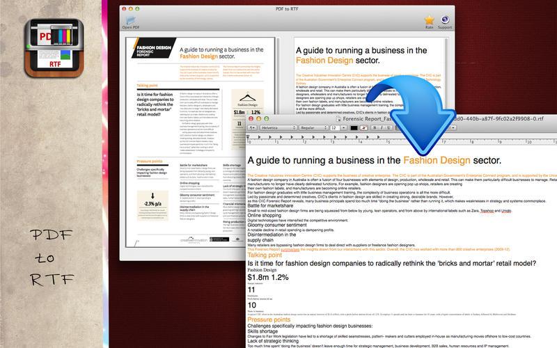 PDF转RTF转换器-PDF to RTF截图2