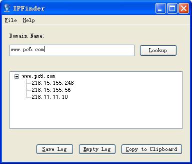 域名IP查询工具(IPFinder)