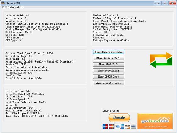 CPU信息查询工具(DetectCPU)