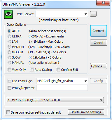UltraVNC (Ultr@VNC) 远程控制