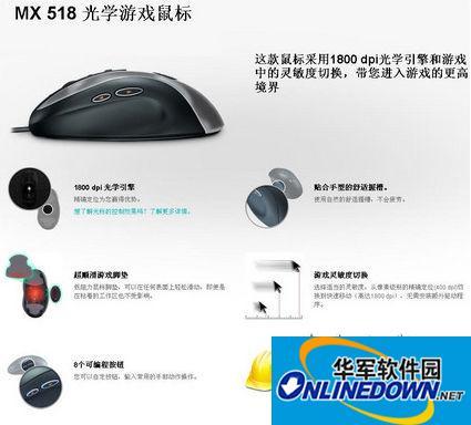 罗技mx518驱动 v6.20 中文正式版 32位