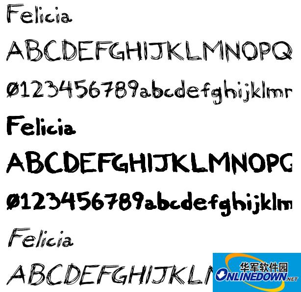 Felicia手写英文字体
