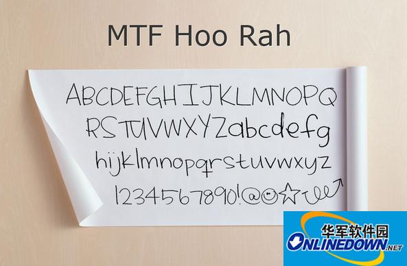 MTF Hoo Rah(英文手写体)