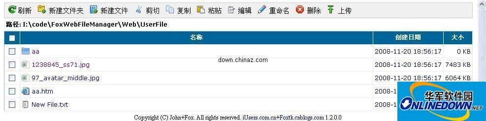 精美的asp.net WEB在线文件管理(狐狸修改版)源码