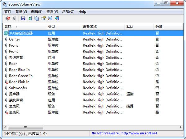 SoundVolumeView(音量管理软件)
