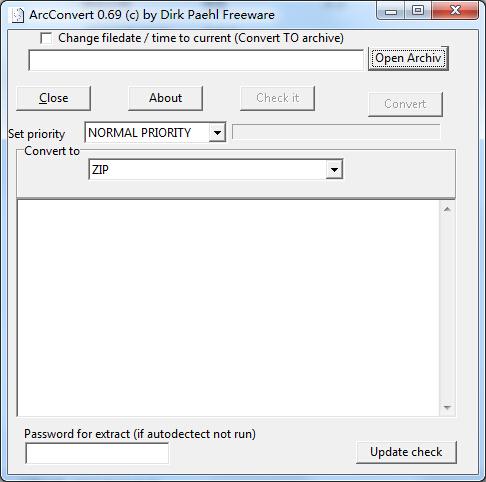 压缩包转换工具(ArcConvert)